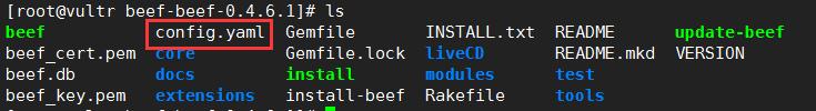 beef修改默认密码